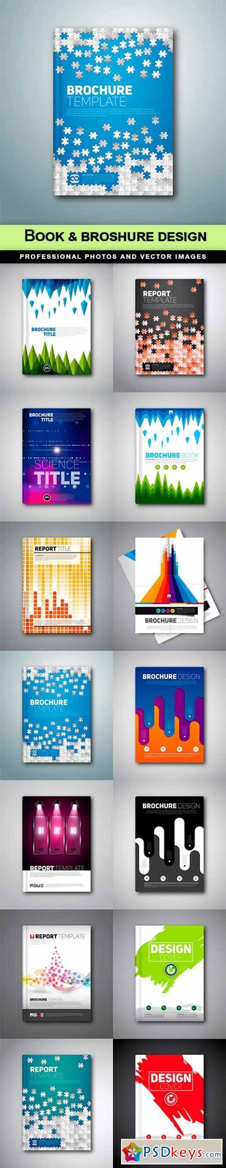 Book & broshure design - 14 EPS