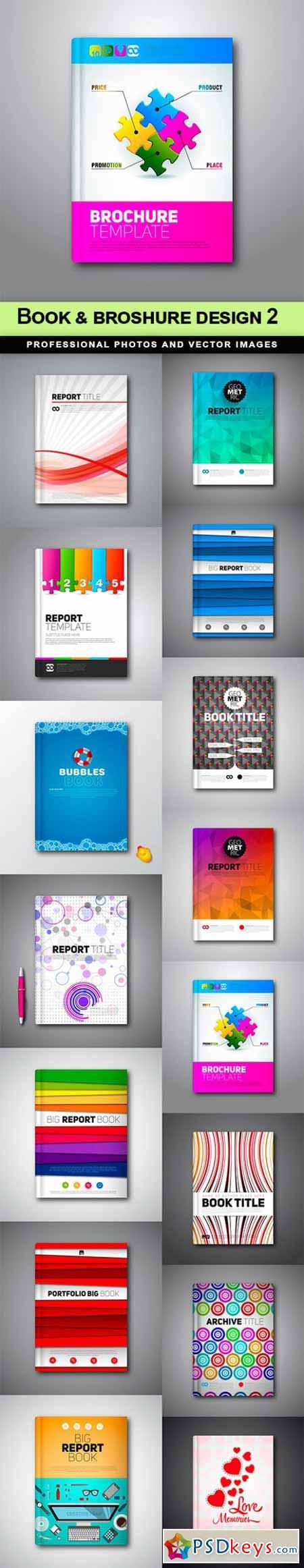 Book & broshure design 2 - 15 EPS