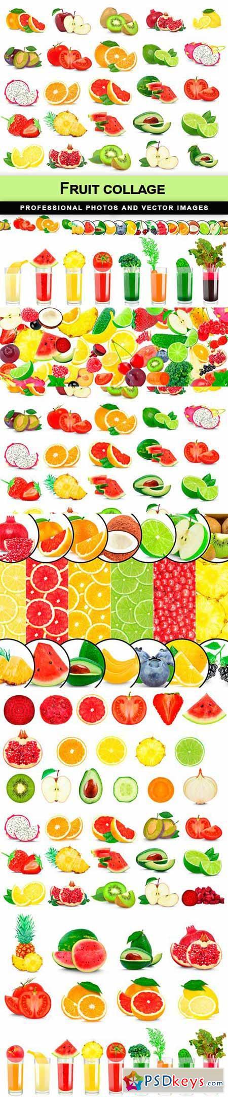 Fruit collage - 10 UHQ JPEG