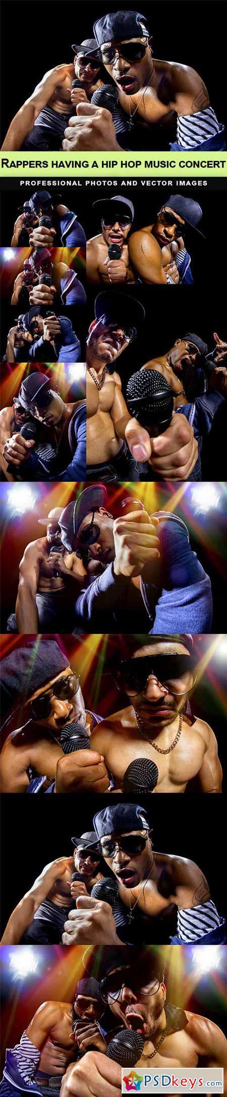 Rappers having a hip hop music concert - 10 UHQ JPEG