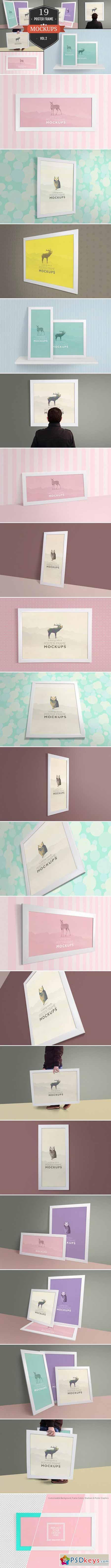 Elegant Poster Frame Mockups Vol. 2 385045