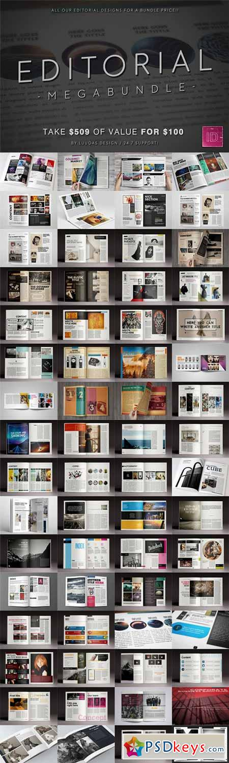 Editorial Megabundle 344218 - 34 Magazines Templates