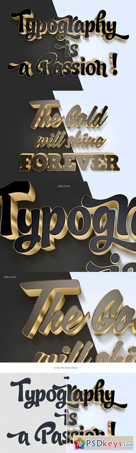 3D Gold Text Effects 388705