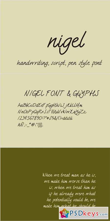 Nigel font 20087