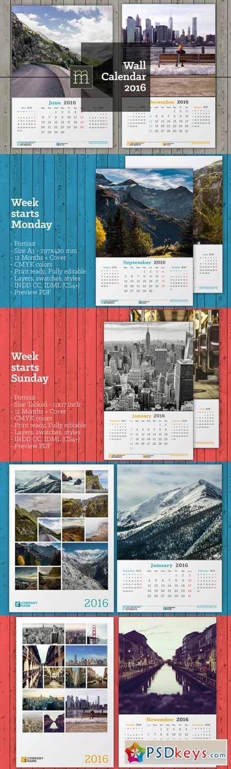Wall Calendar 2016 389717