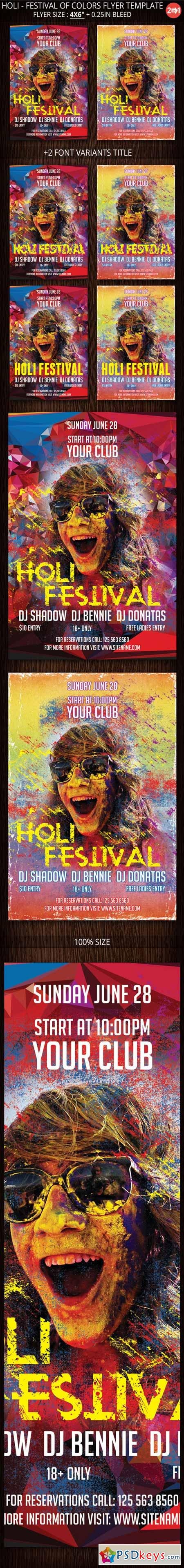 Holi - Festival Of Colors Flyer 388746