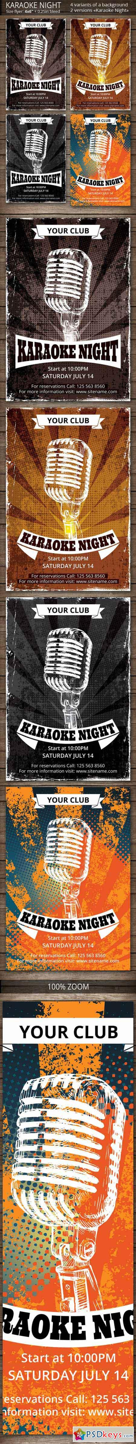 Karaoke Night Party Flyer 388757