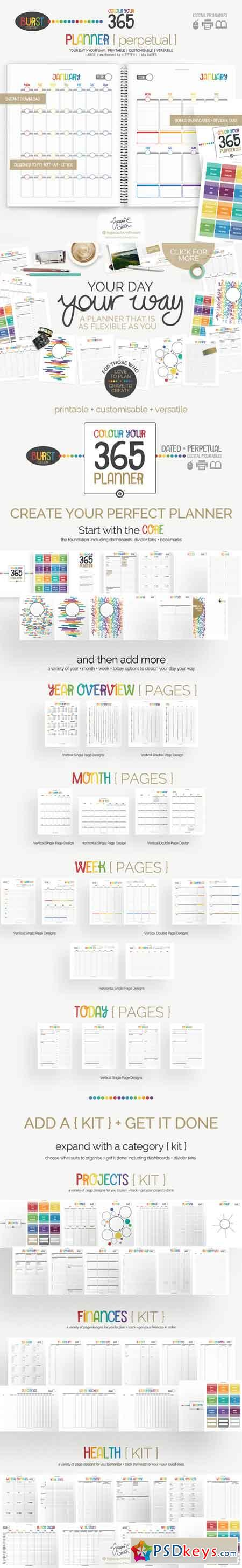 Colour Your 365 Printable Planner 390933