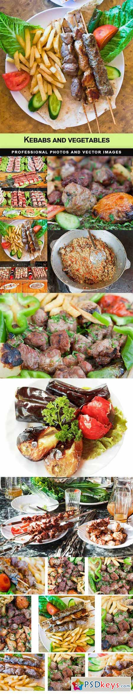 Kebabs and vegetables - 10 UHQ JPEG