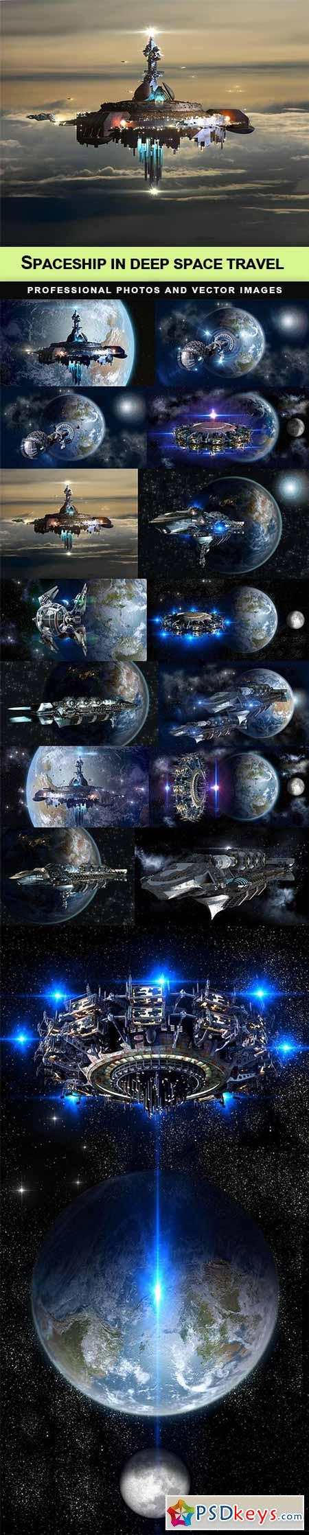 Spaceship in deep space travel - 15 UHQ JPEG