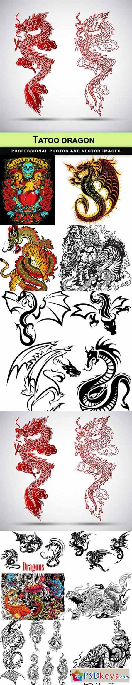 Tatoo dragon - 12 EPS