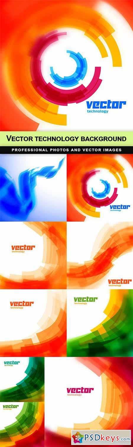 Vector technology background - 9 EPS