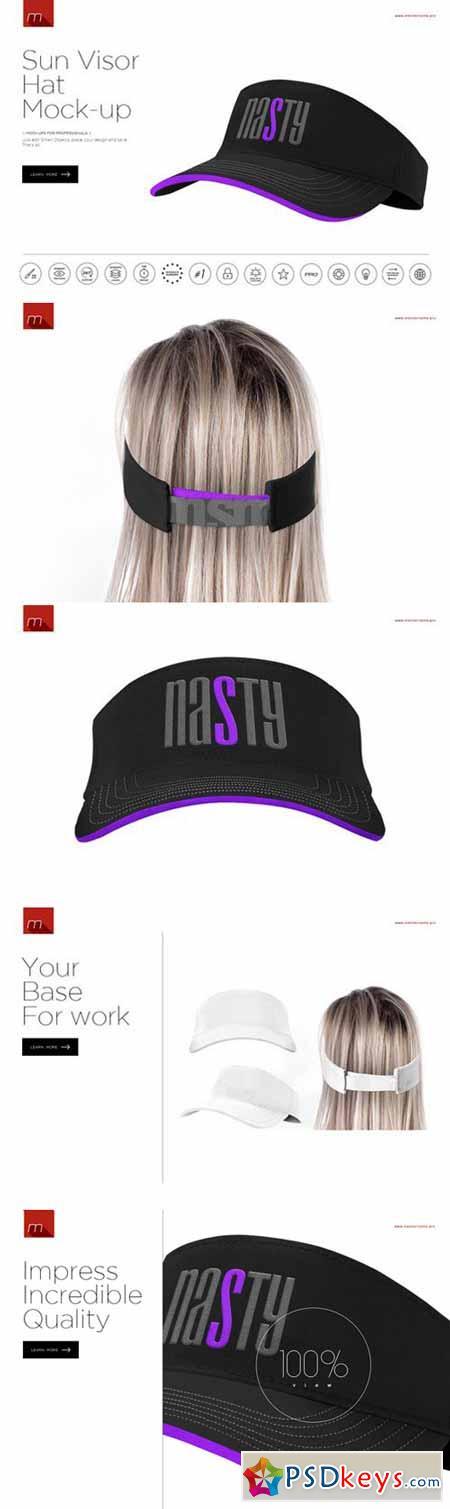 Sun Visor Hat Mock-up 392424