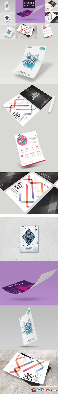 8 Poster flyer Mockup Bundle Vol_1 392699