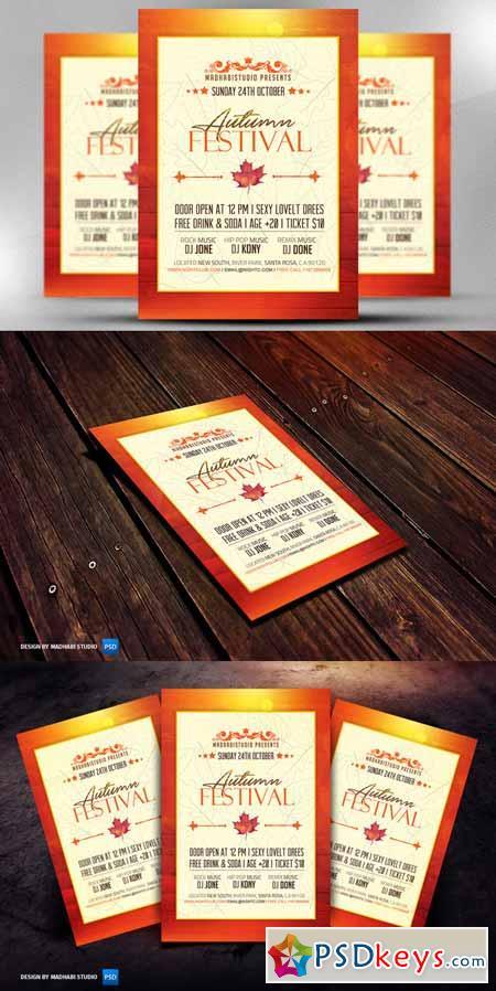 Autumn Festival Flyer Template 392687