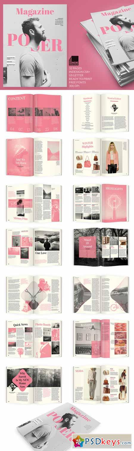 Poser Magazine Template 391694 » Free Download Photoshop Vector