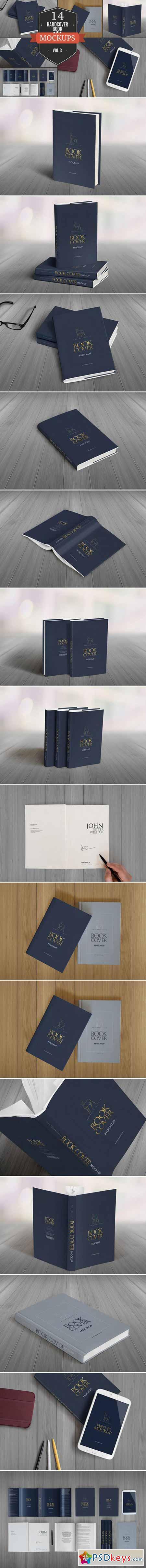 Elegant Hardcover Book Mockups Vol.3 390112