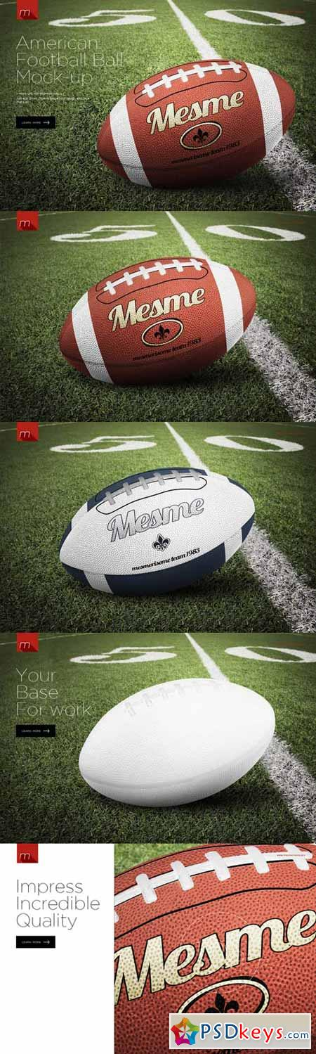American Football Ball Mock-up 391383