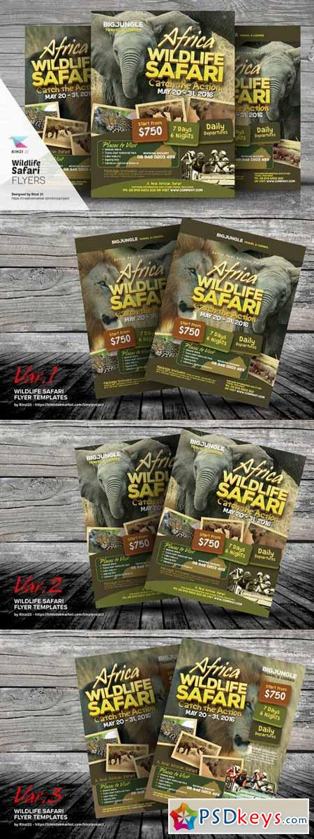 Wildlife Safari Flyer Templates 374118