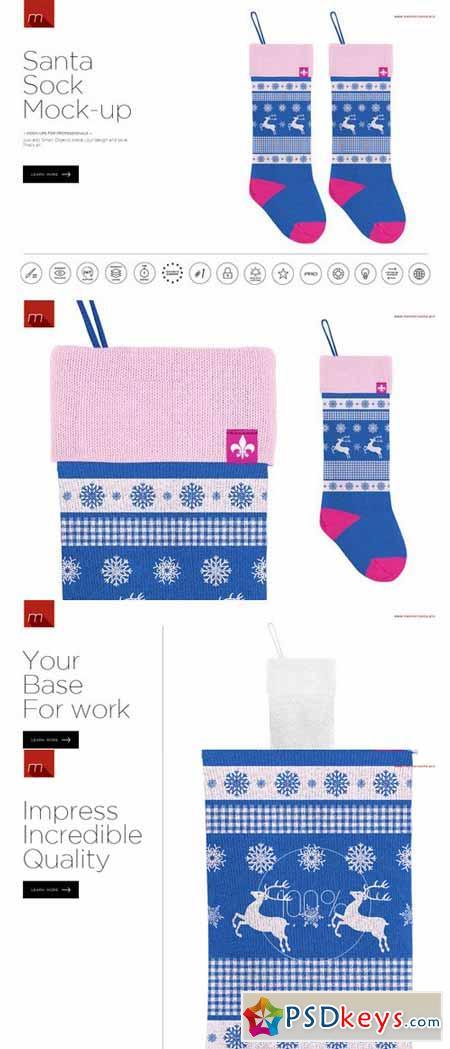 Santa Sock Mock-up 391952
