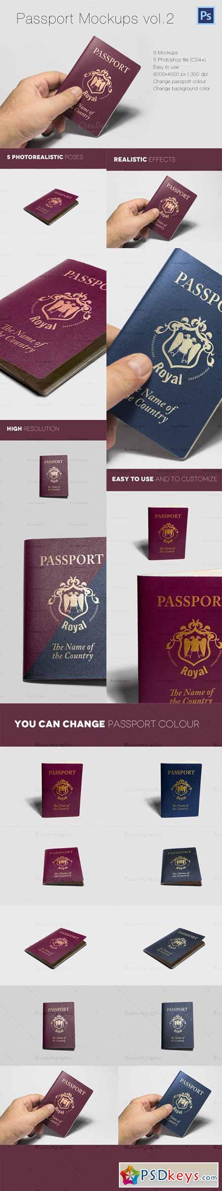 Photorealistic Passport Mockup Vol.2 393370
