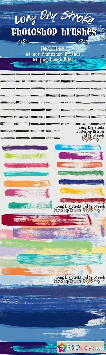 Long Dry Watercolor Brushes Bundle 95122