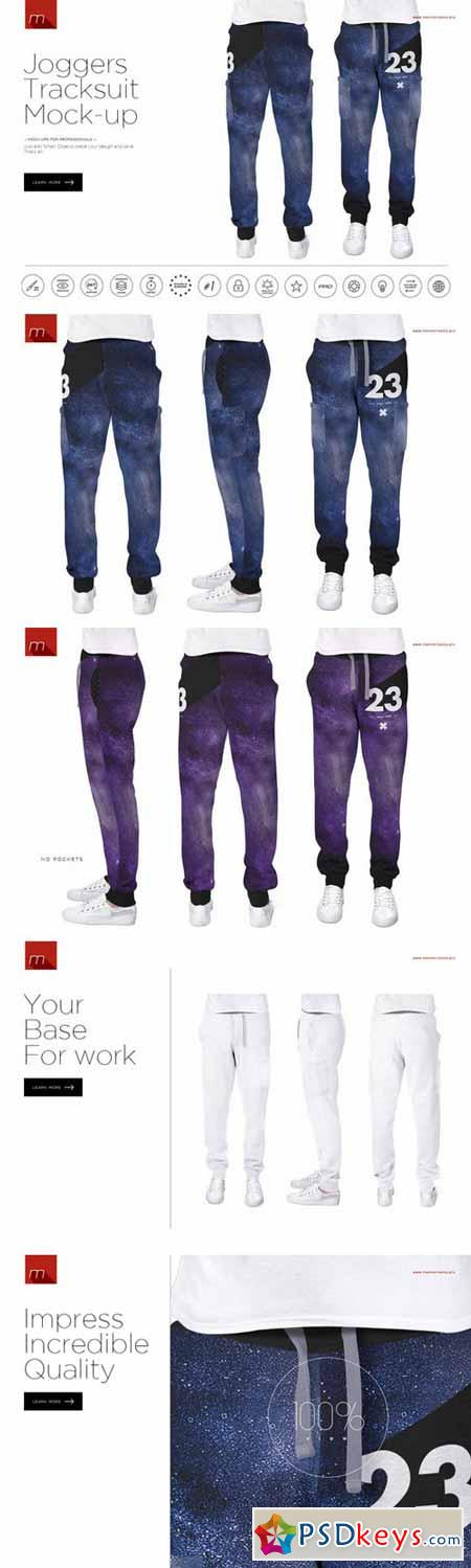 Joggers Tracksuit Mock-up 393369
