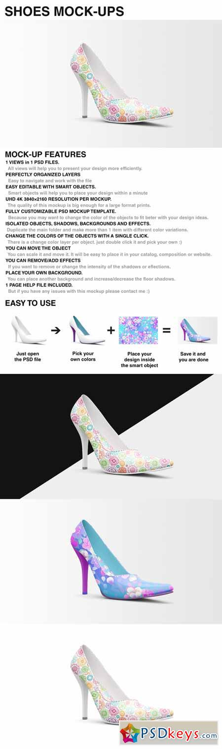 Shoes Mockup - High Heels Mockup 388881