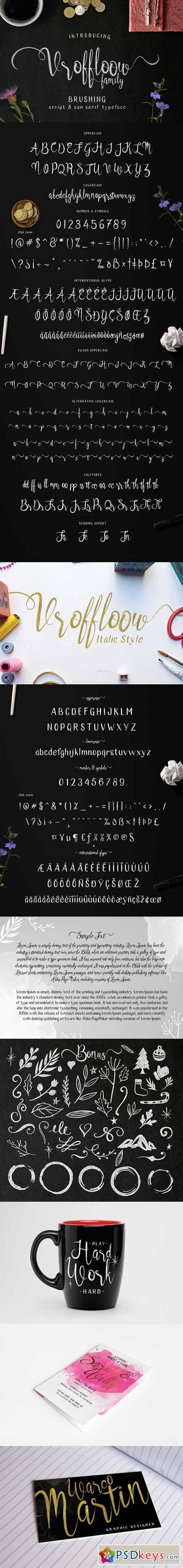 Vroffloow family Typeface 392582