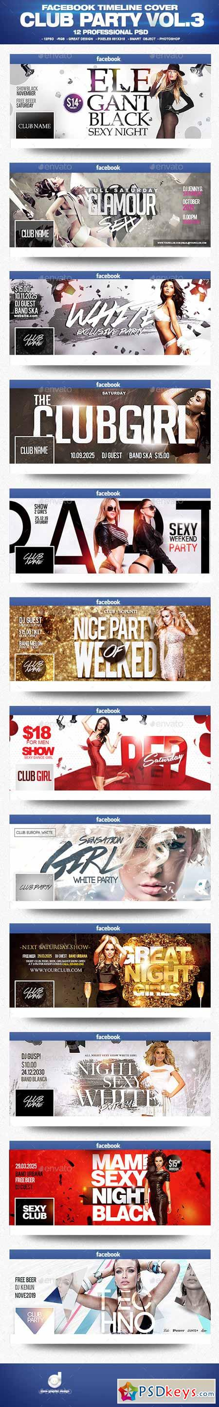 Facebook Timeline Cover Package Club Party Vol.3 13106173