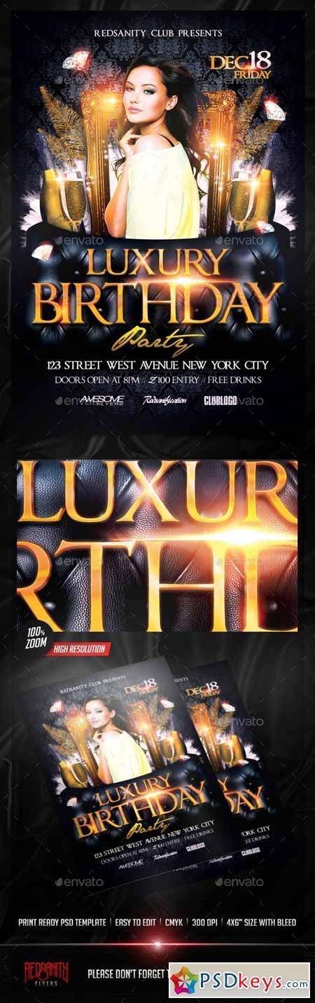 Luxury Birthday Party Flyer 13124514