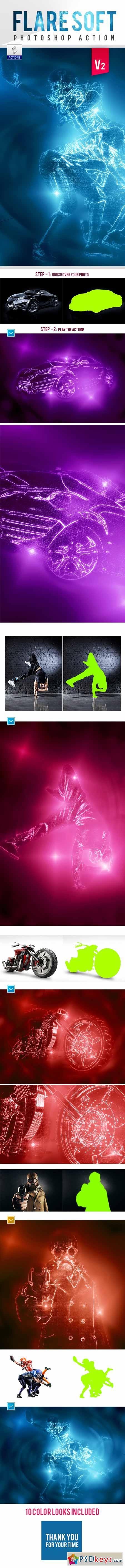 Flare Soft Photoshop Action V2 12875078