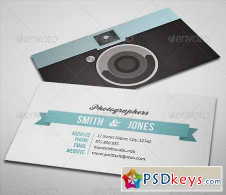 Sleek Illustrated Photography Business Card 2398103