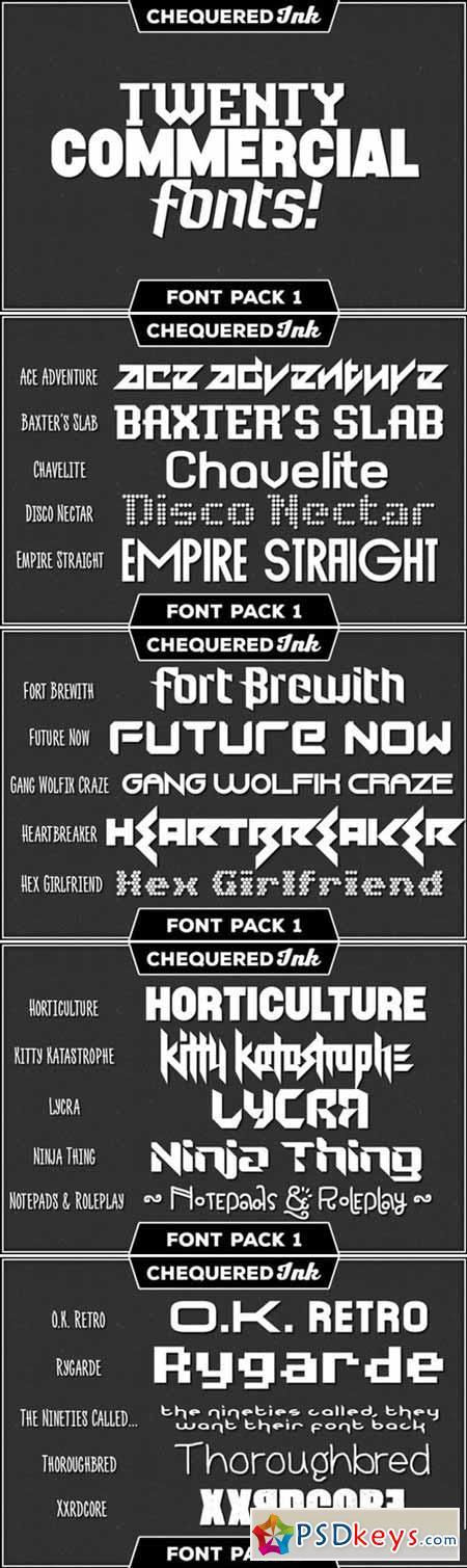 Ink Font Pack 1 [20 Fonts] 392431