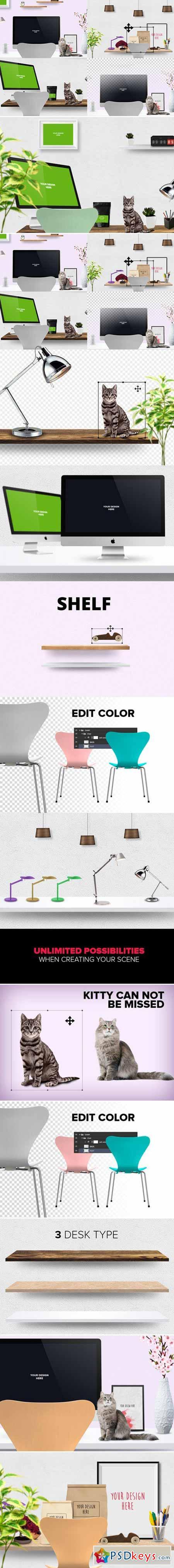 Mockup scene creator-Desk edit 373086