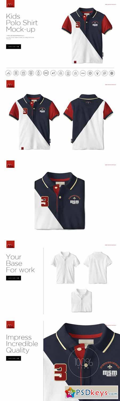 Kids Polo Shirt Mock-up 394507