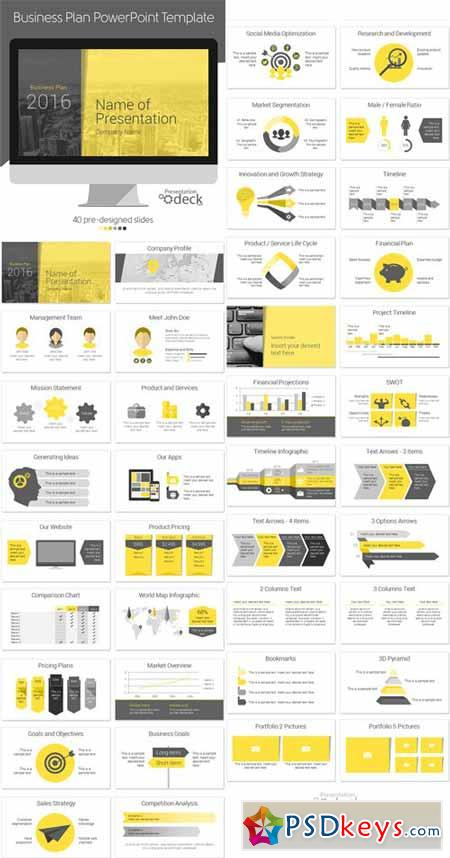 Business Plan PowerPoint Template Free Download Photoshop - Business plan powerpoint template free