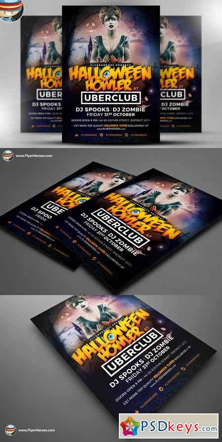 Halloween Howler Flyer Template 394501