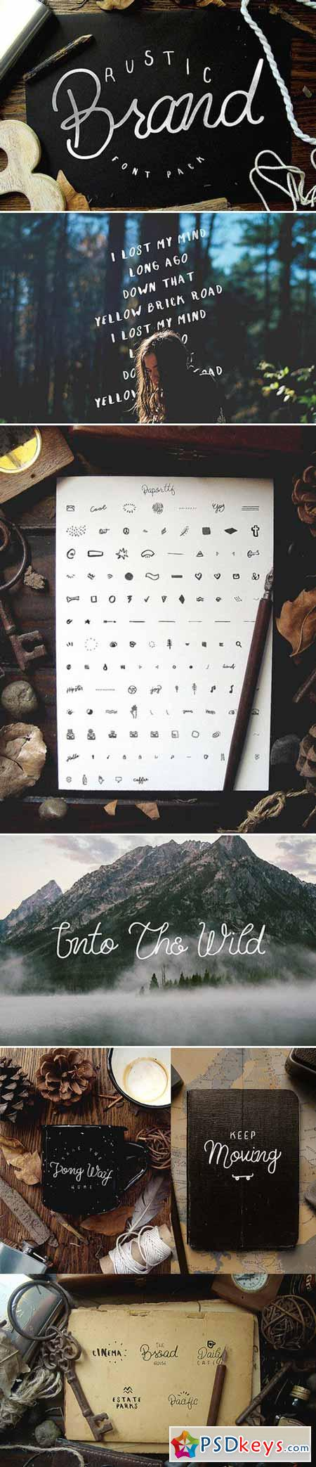 Rustic Brand - 5 Font Pack 395685