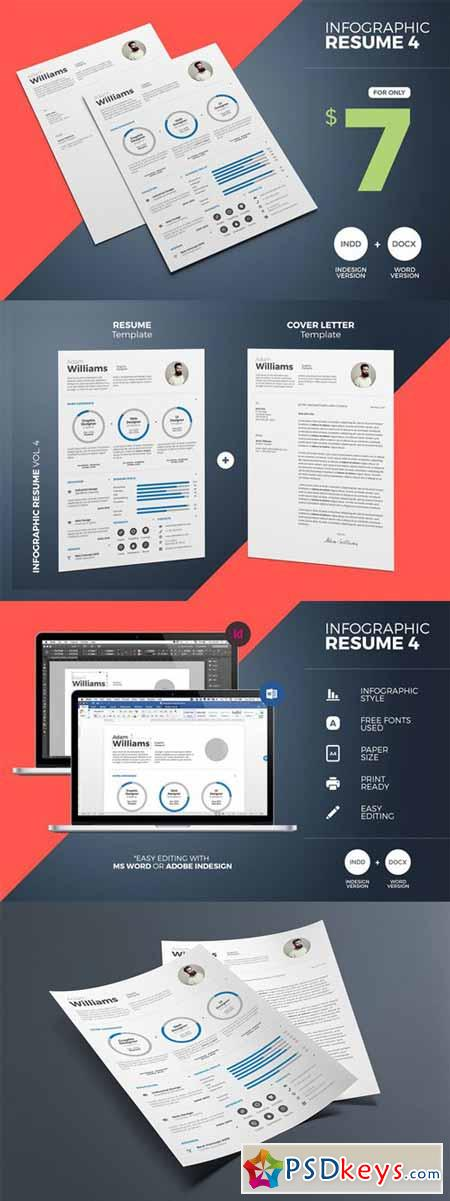Infographic Resume 4 Word & Indesign 393806