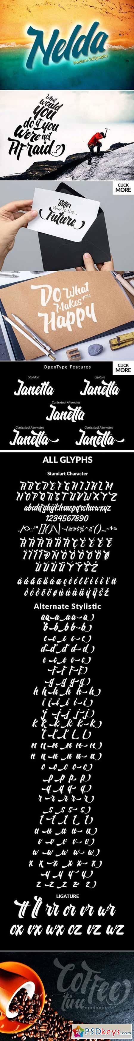 Nelda Typeface 395723