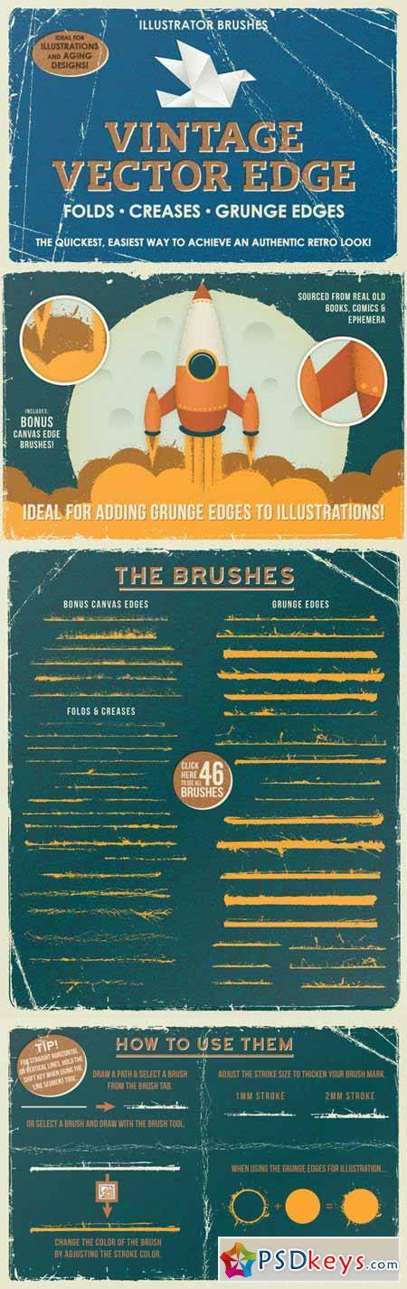 Vintage Vector Edge Brushes 381792