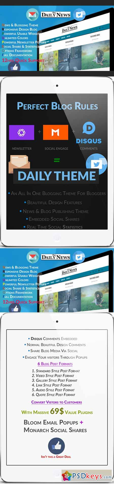 Daily - Blog & News Wordpress Theme 380828