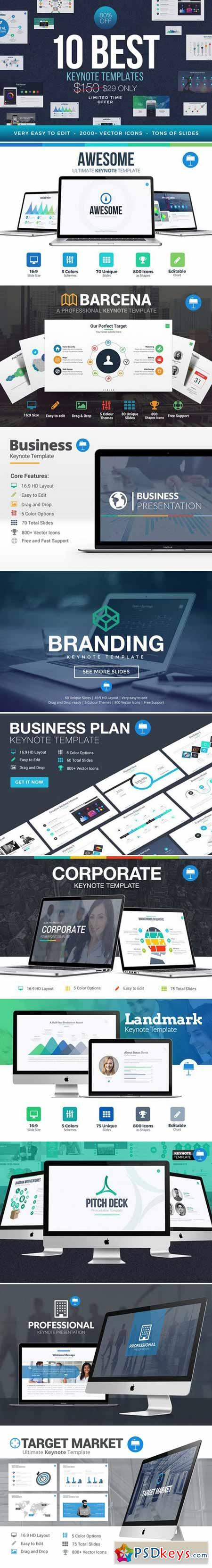 Best Keynote Template Bundle 390048 » Free Download Photoshop Vector ...