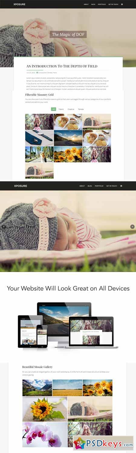 Xposure WordPress Photography Theme 384945