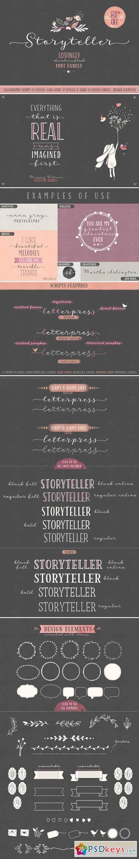 Storyteller Font Family 390317