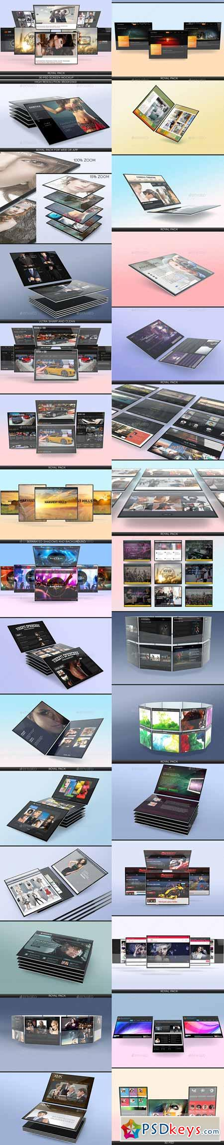 Screen Mockup Pack 12923382