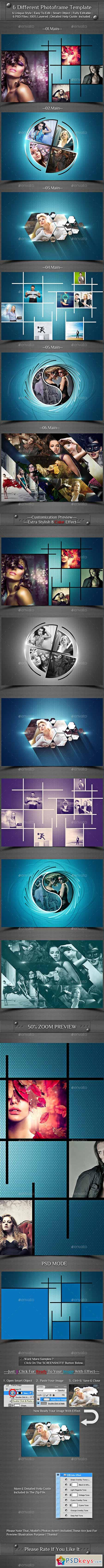 6 Different Photo Frame Template 13227037