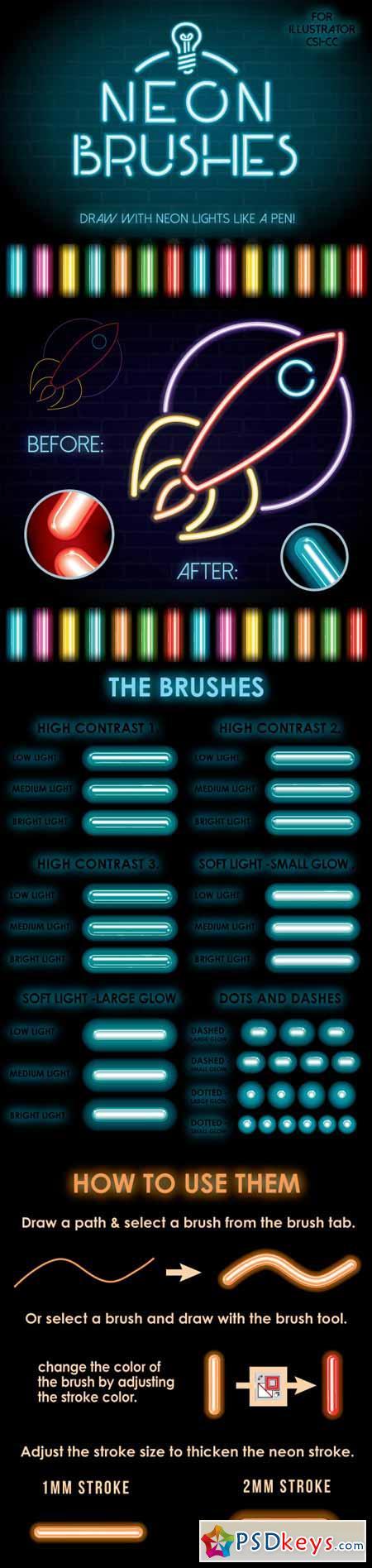 Neon Brushes 13195623