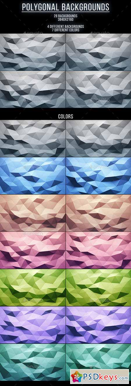 28 Polygonal Backgrounds 13212130